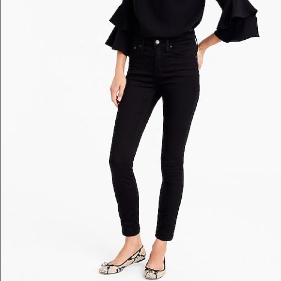 J Crew Black Toothpick Skinny Jeans High Rise 28T